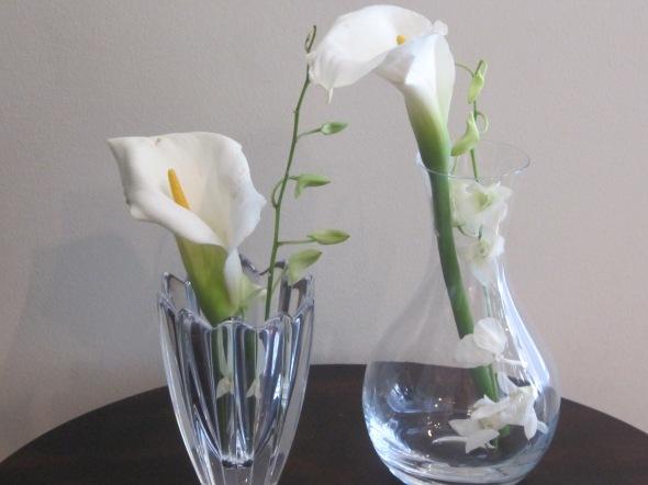 vases + lillies