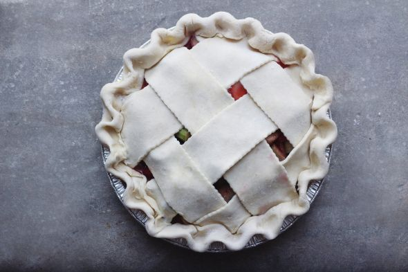 crimped + latticed pie