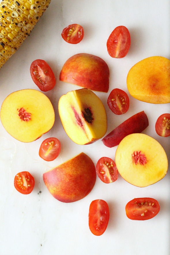 peaches + tomatoes