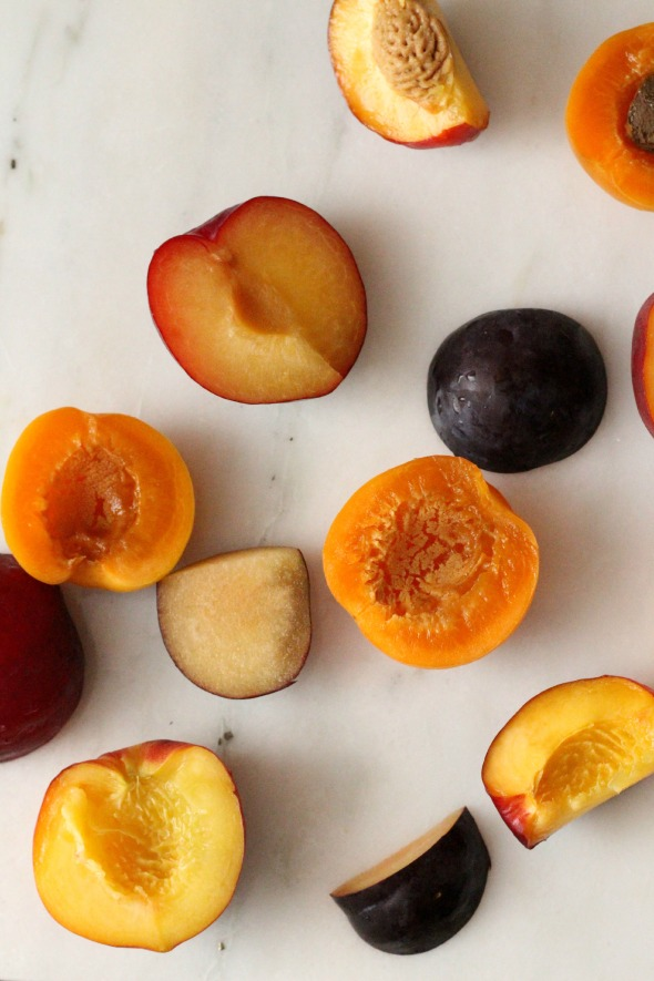 stone fruit, cut