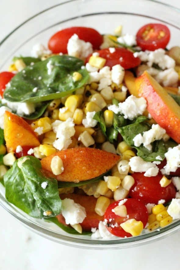tomato, nectarine and corn salad1