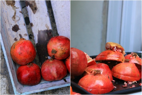 juicing pomegranates
