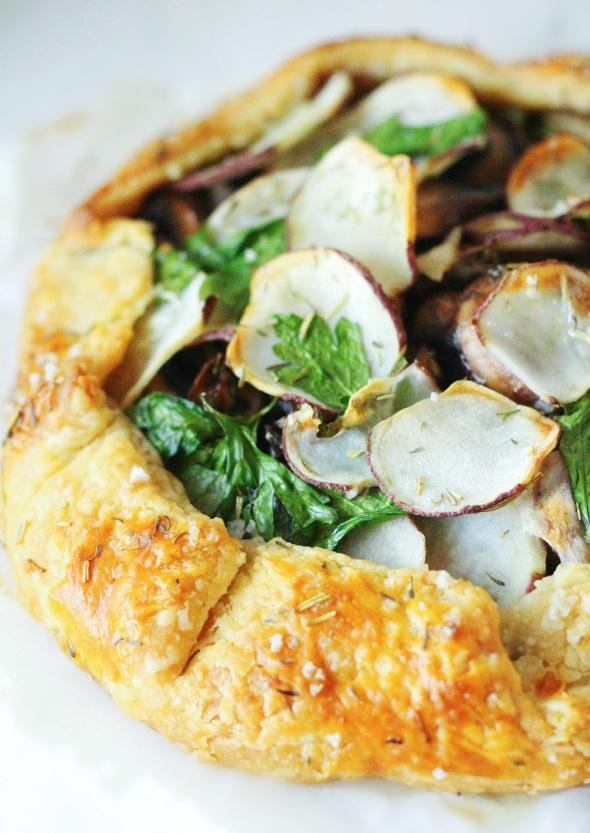 mushroom, thyme and potato galette
