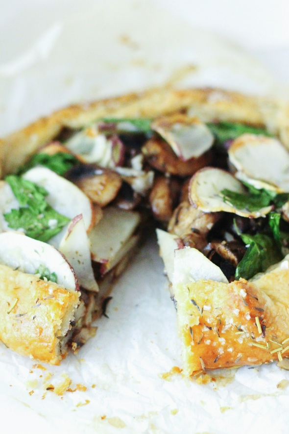mushroom, thyme and potato galette