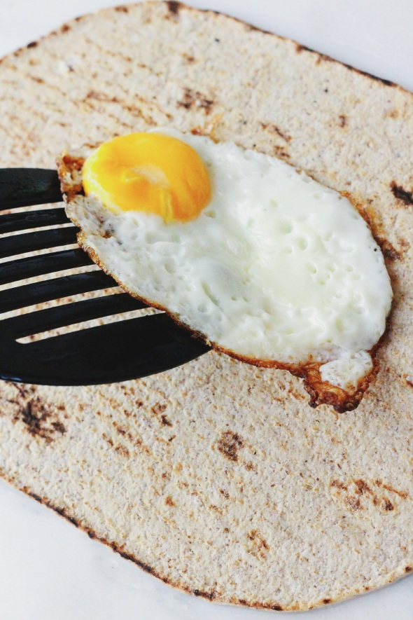egg on wrap
