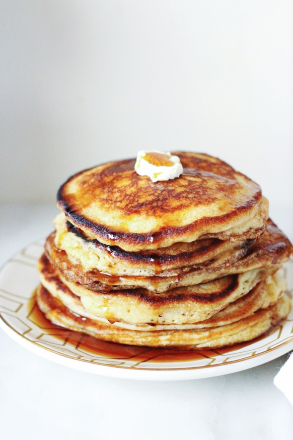 fluffy brown sugar pancakes