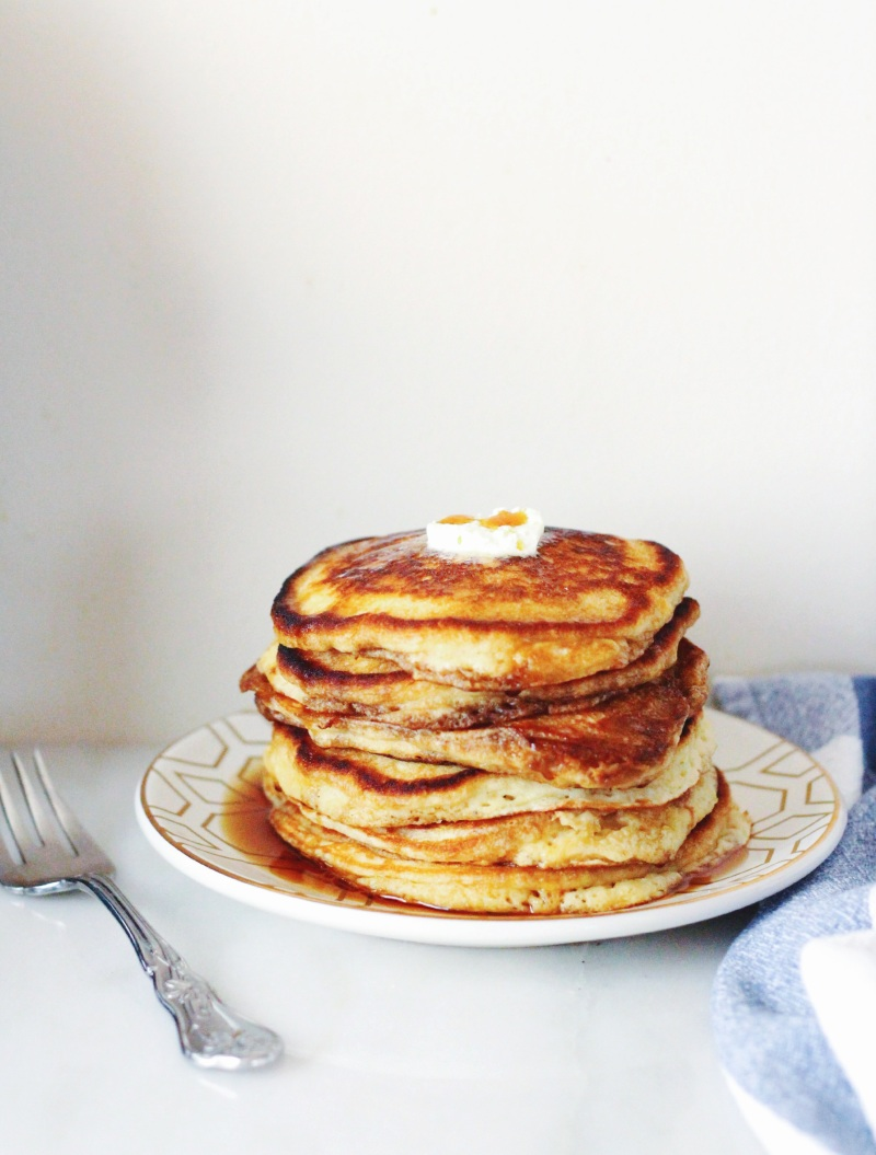 fluffy brown sugar pancakes