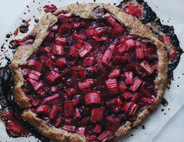 Raspberry Rhubarb Galette