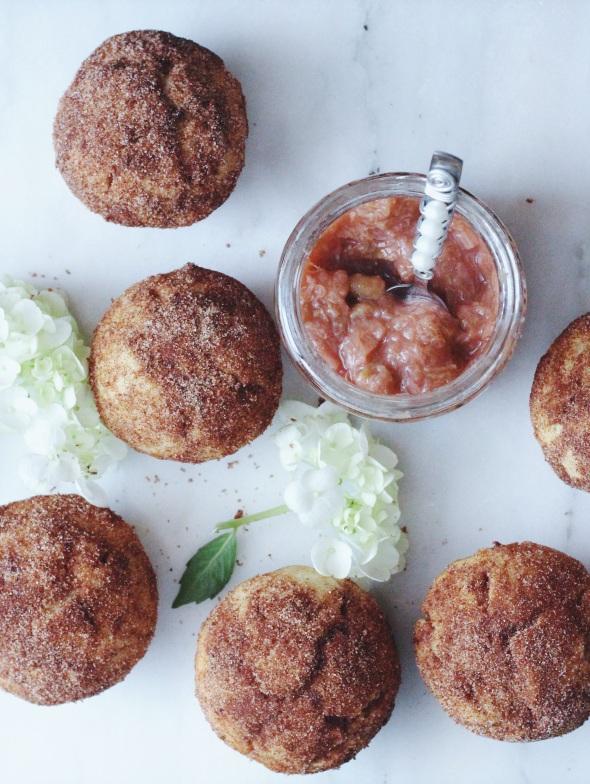 Rhubarb, Cinnamon & Lavender Breakfast Puffs