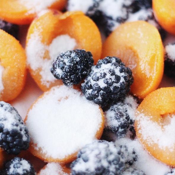 Roasted Blackberry Apricot Ice Cream
