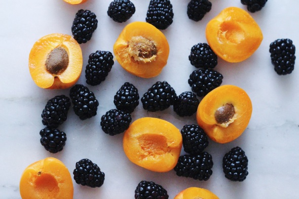Roasted Blackberry Apricot Ice Cream