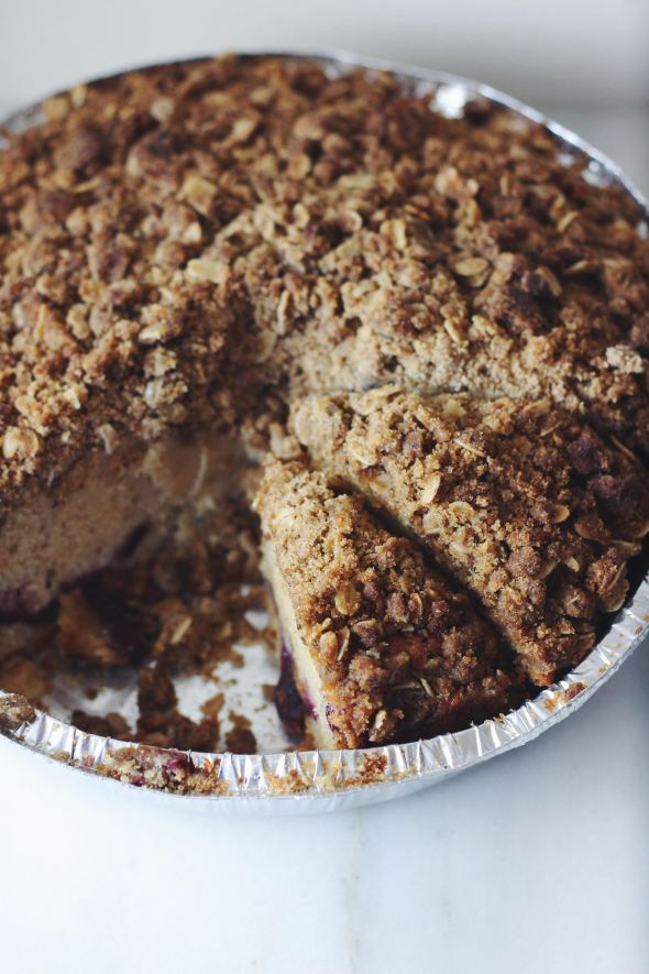 Cherry Buttermilk Cake with Brown Butter Streusel