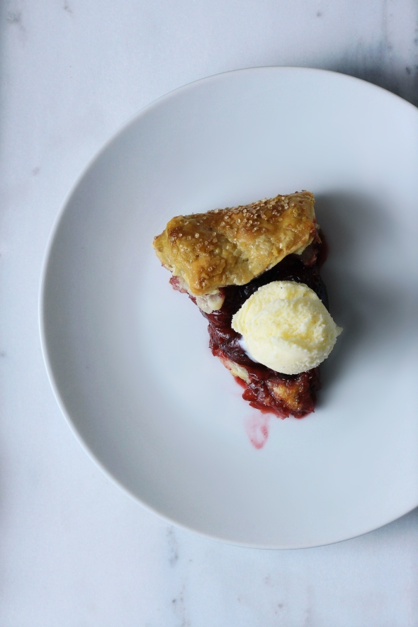 Sweet Cherry & Blueberry Galette