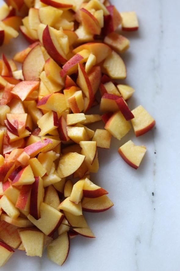 bright yellow peaches