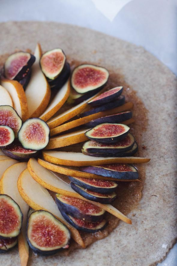 Fig, Pear & Frangipane Rye Galette