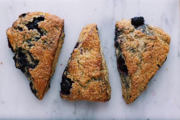 Blackberry Buttermilk Rye Scones