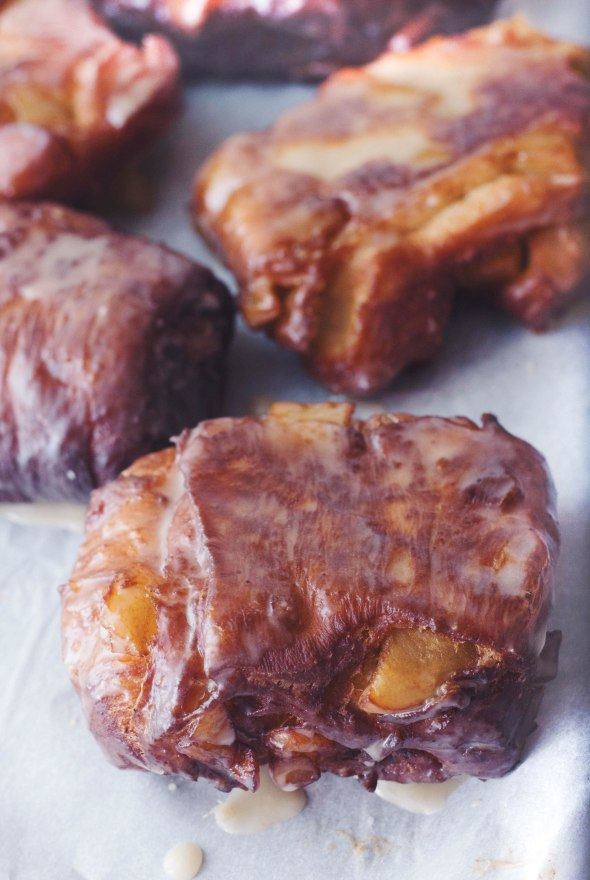 Maple Glazed Apple Fritters