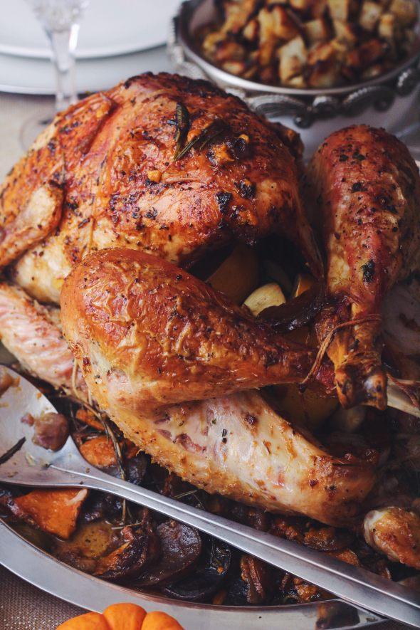 Herbed Duck Fat Roasted Turkey