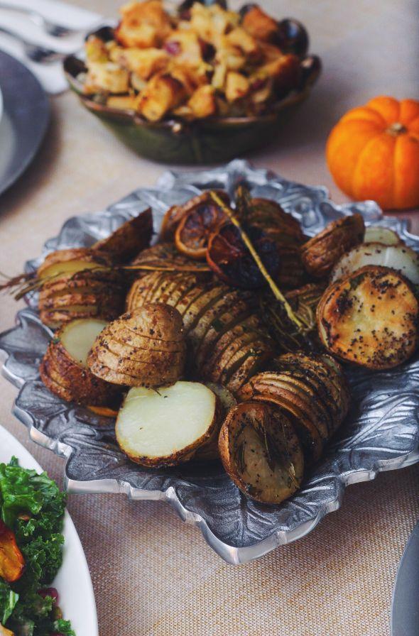 Sage and Lemon Hasselback Potatoes