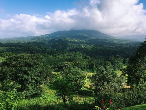 views of the arenal volcano