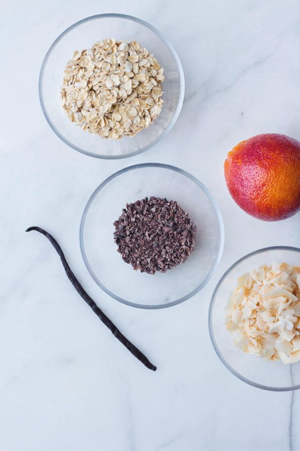Blood Orange, Coconut and Vanilla Oatmeal