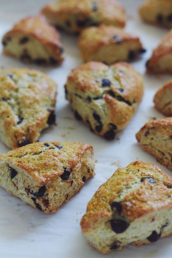 Simplest Chocolate Chip Scones