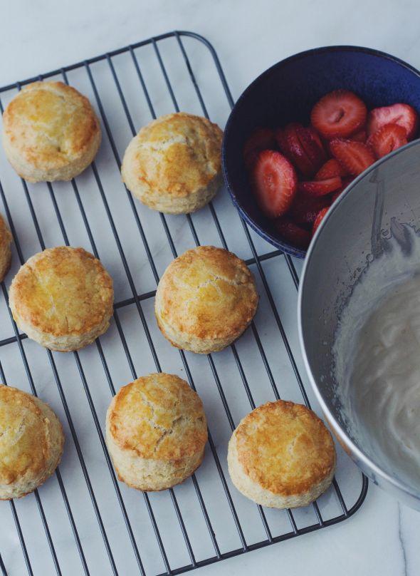 Strawberry Spelt Shortcakes