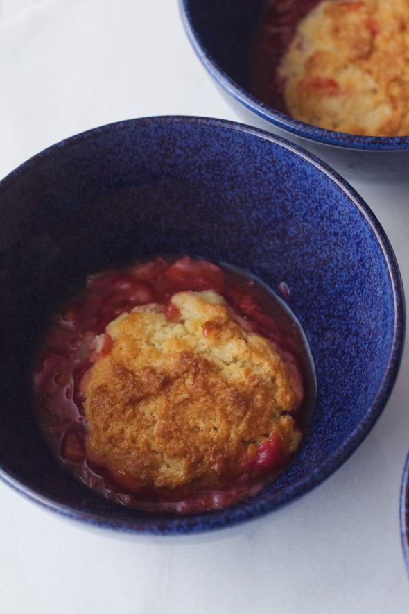 Strawberry Rhubarb Cobbler