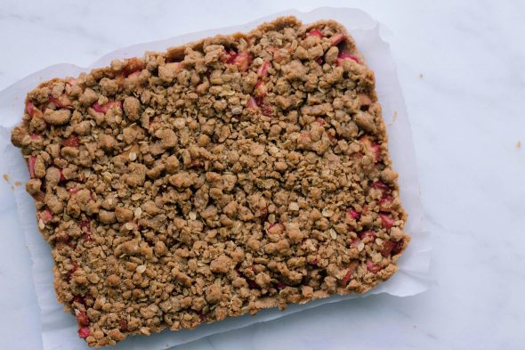 Whole Wheat Rhubarb Pie Bars