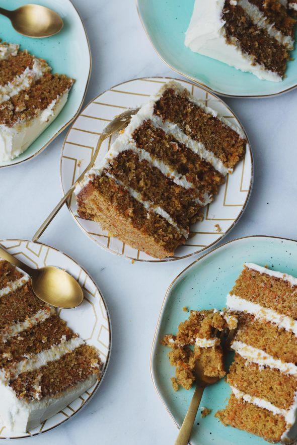 Chai Spiced Spelt Carrot Cake
