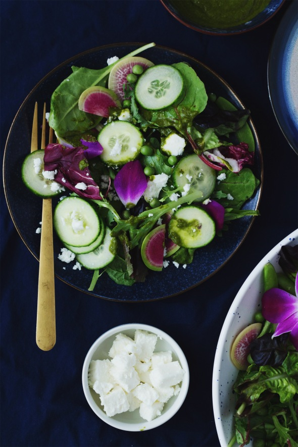 Snap Pea, Radish and Orchid Salad