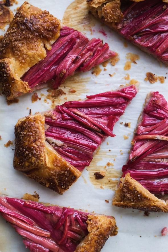 Rhubarb and Walnut Frangipane Galette
