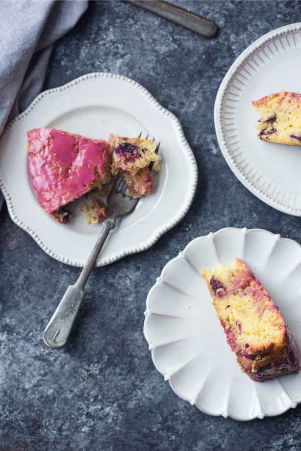 Concord Grape, Cornmeal and Einkorn Cake